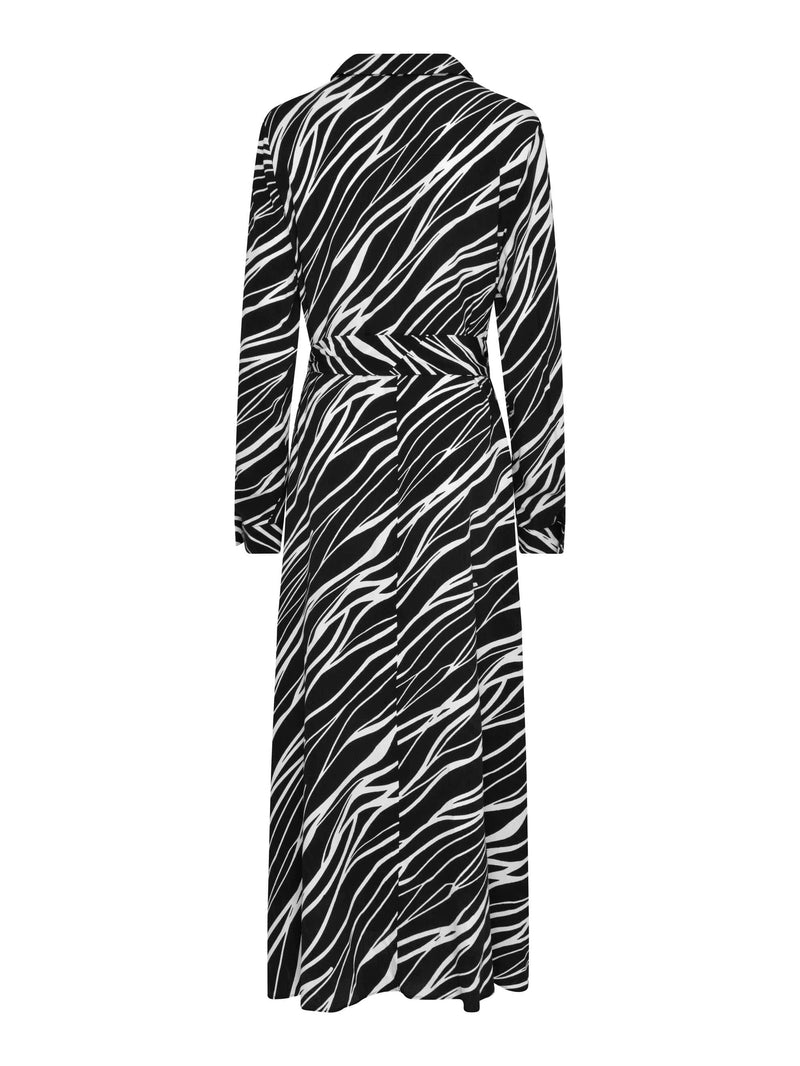 Zebra Print Shirt Dress