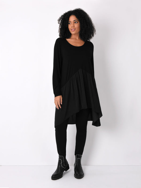 Jersey Tunic with Satin Mix - Live Unlimited London
