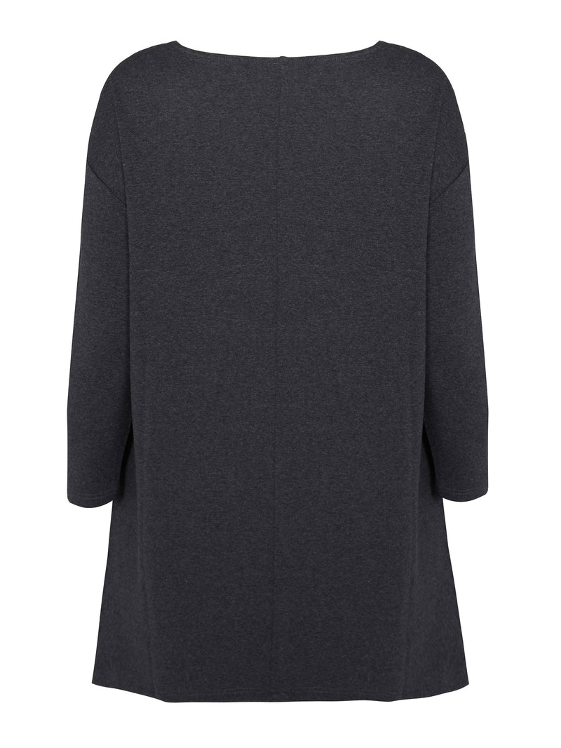 Dark Grey Marl Sweat Tunic