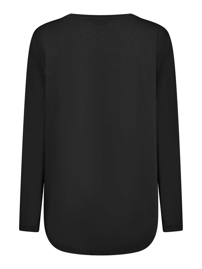 Seamed Pocket Long Sleeve Tee