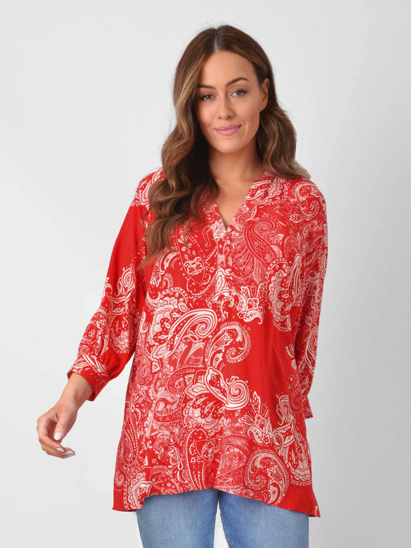 Red Paisley Blouse