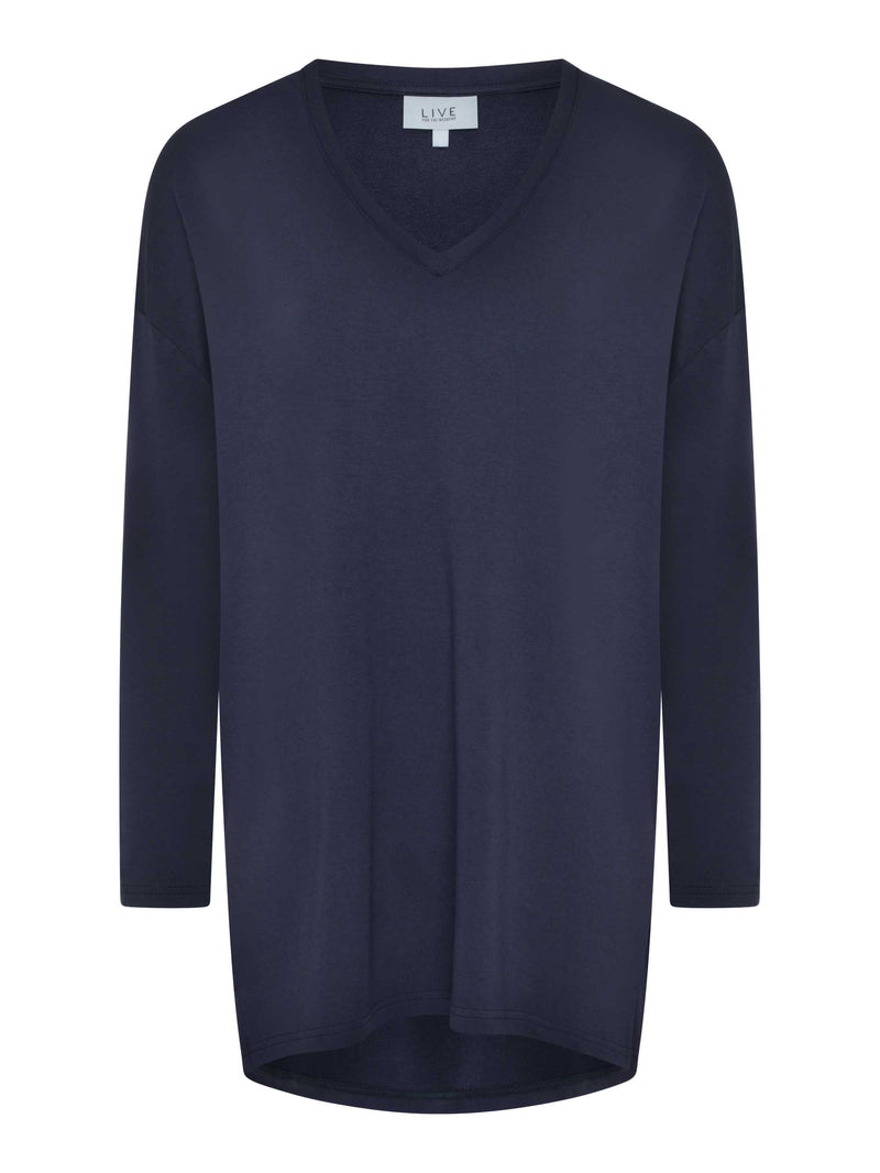 Oversized V Neck Top