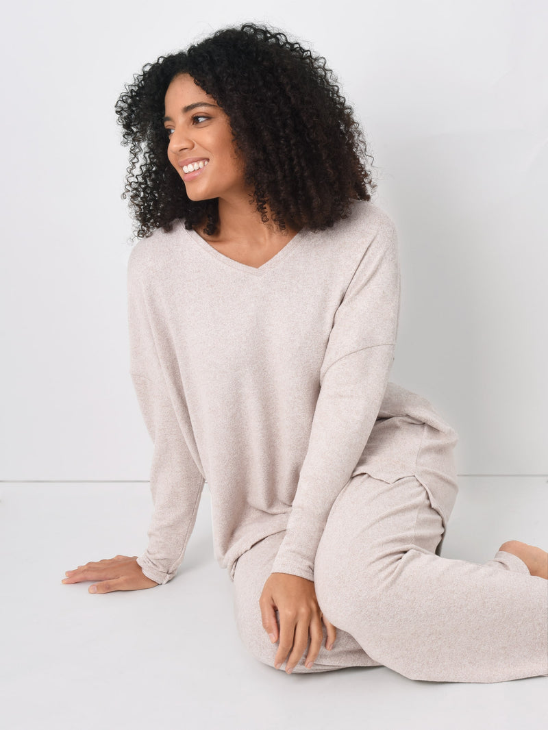 Oatmeal Loungewear Top