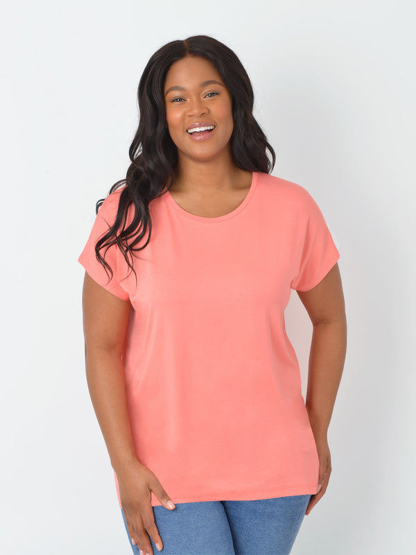 ECOVERO™ Seamed Detail T-Shirt