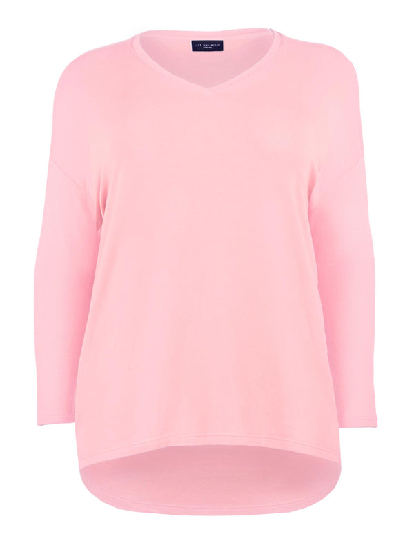 Cotton V Neck Sweatshirt