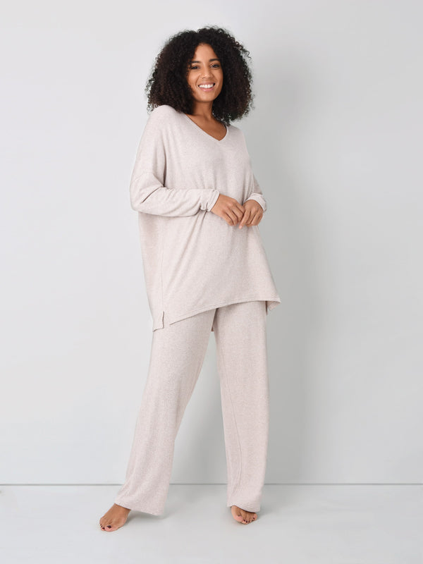 Oatmeal Loungewear Trousers
