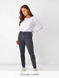 Grey Slim Leg Jean - Leg Lengths Available