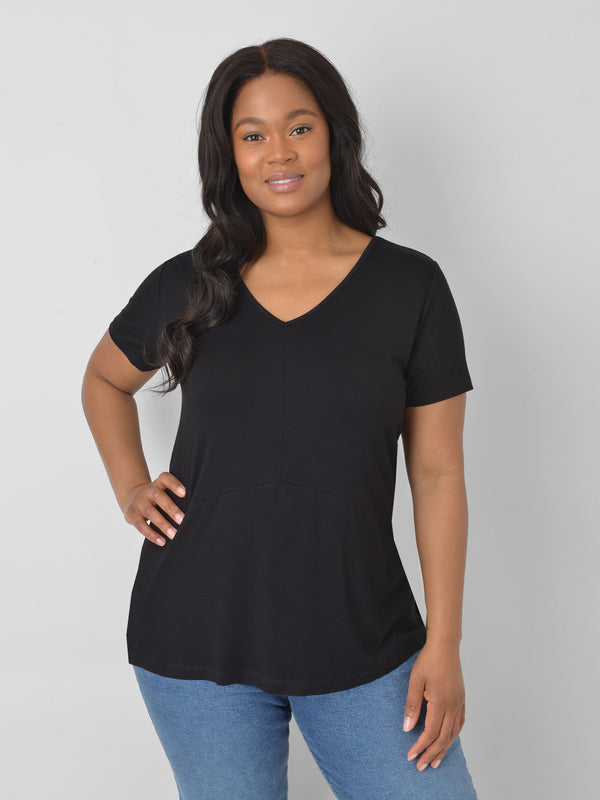 Jersey Panelled Top