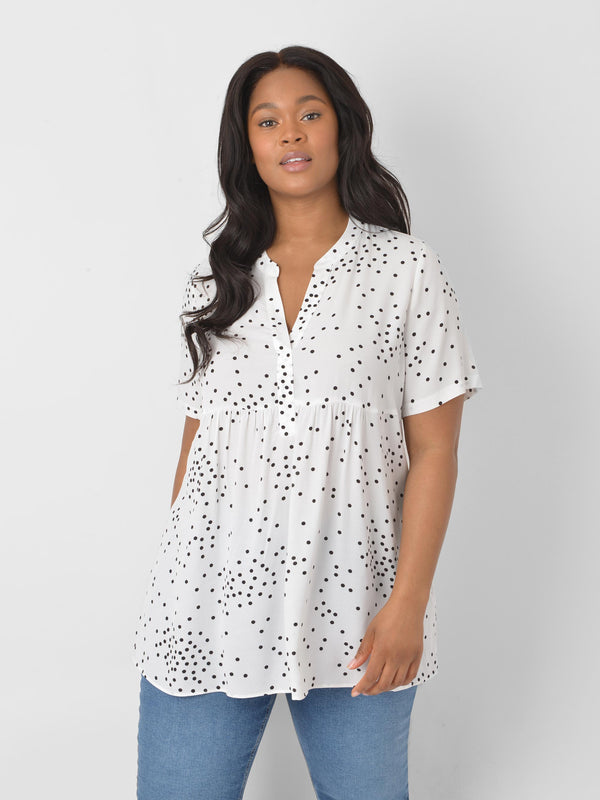 White & Black Spot Tunic