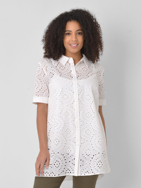 Cotton Broderie Shirt