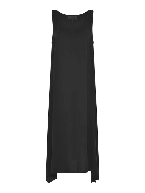 Black Hanky Hem Vest Dress