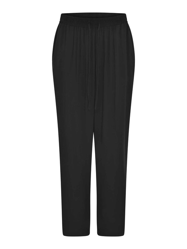 Black Tapered Relaxed Trousers