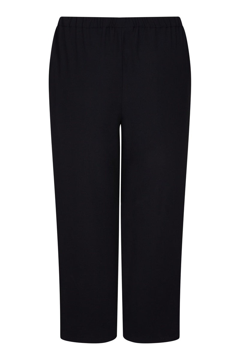 Black Wide Leg Trouser with White stripe detail - Live Unlimited London