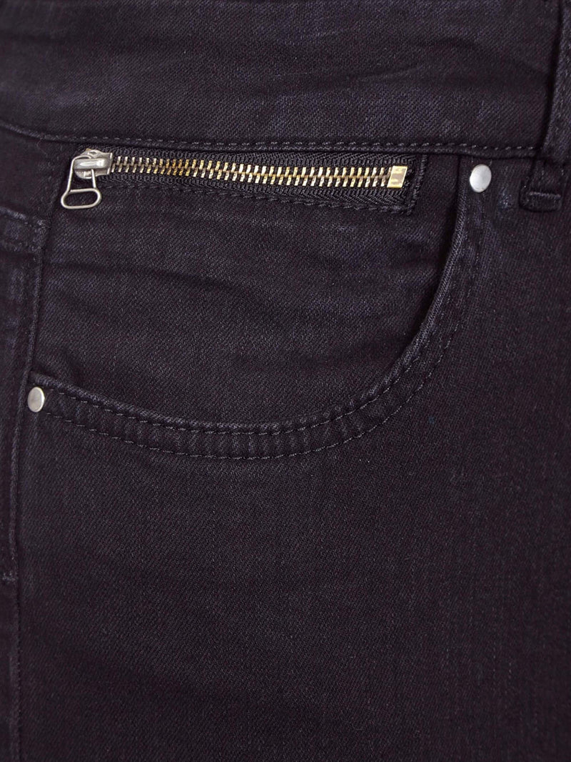 Black Zip Detail Jean