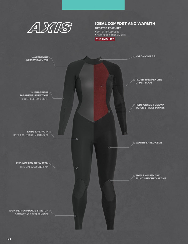 Xcel Axis Fullsuit 5/4mm,