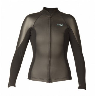 Xcel Women's Axis Smoothskin 2/1mm L/S Front Zip Wetsuit Top