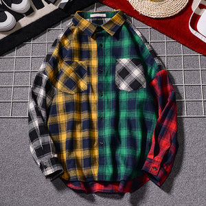 Trendy Ape-Trendy and handsome gentleman's stylish plaid shirt