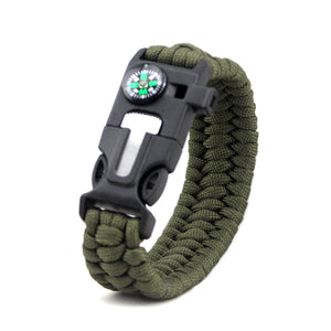 5 In 1 Survival Bracelet With Compass
