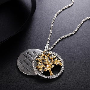 Family Tree 925 Sterling Silver Crystal Necklace(Optimal Order Quantity:3)