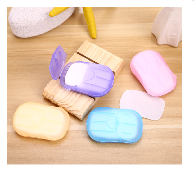 20 pieces of disposable soap paper shower tablets soap paper travel supplies hand washing