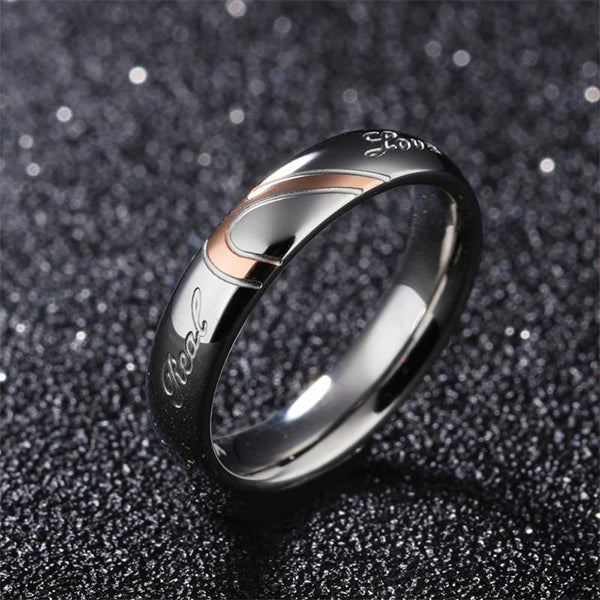 Ring of True Love-Heart of Love Couple Titanium Rings Fashion Jewelry