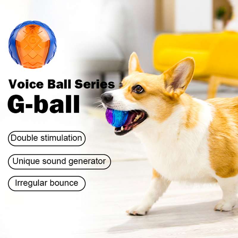 G-Ball Pet toy vocal ball, molar bite resistance,safety