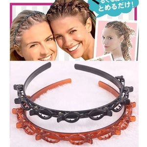 Twist Plait Hair Braiding Hairdressing Tools + Braided Headband with Clip