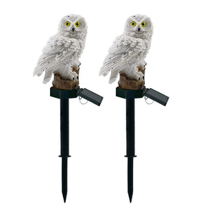 Owl Solar Powered LED Lamp Outdoor,  Garden Stake Lights for Walkway Yard Lawn Landscape Lighting