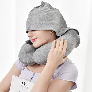 Portable U-shaped neck pillow