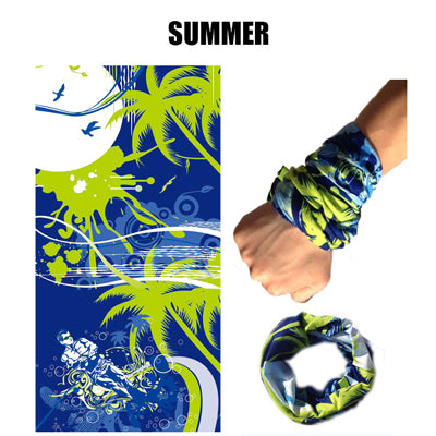 Summer Face Cover UV Protection Neck Gaiter Scarf Sunscreen Breathable Bandana