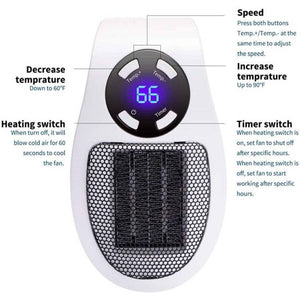 350W SPACE HEATER - Buy 2 Extra 10% OFF
