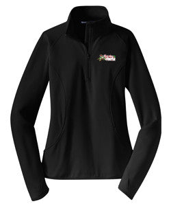 Stretch Half Zip Pullover [Black]