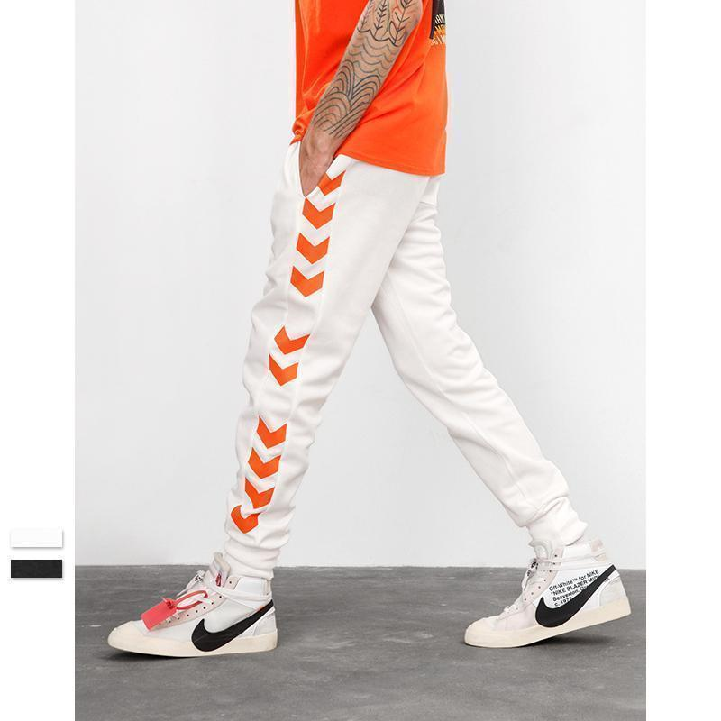A/W Sweatpants Side Traffic Lane Line Male Streetwear Track Pants Casual Joggers