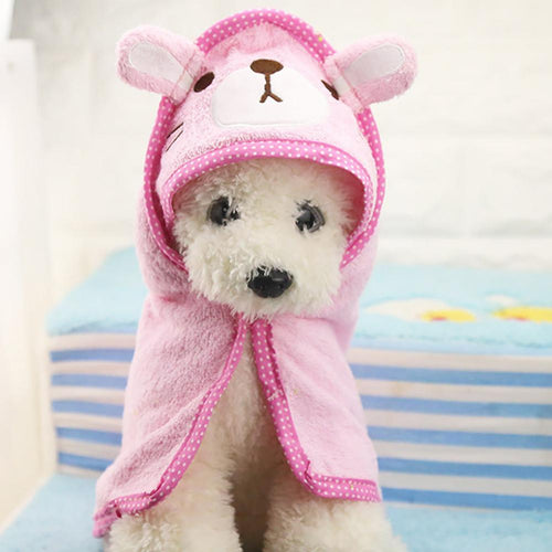 Soft Pet Dog Cat hat Animal Bathrobe Bath