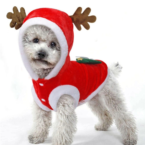 Dog Clothes Pet Dog Christmas Jacket Winter