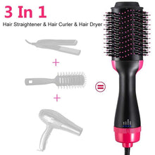 Load image into Gallery viewer, 3 in 1 Salon Styling Hair Brush - 1clickdeals