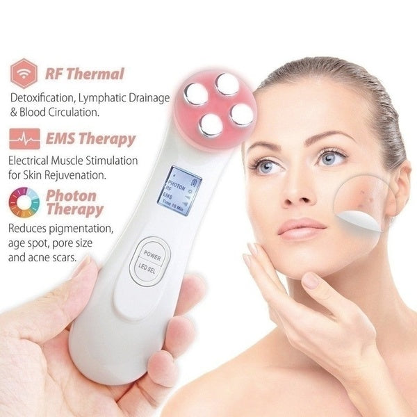 Mesotherapy Electroporation RF Radio Frequency Facial LED Photon Skin Care Device