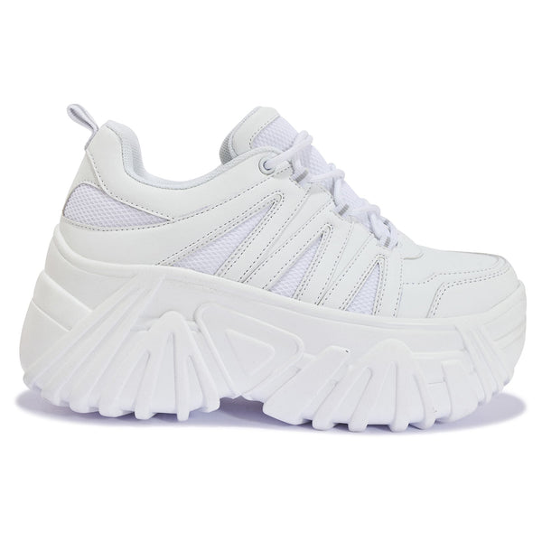 191206 HIGH CHUNKY MESH LACE UP TRAINER