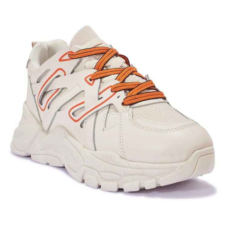 200420 MULTI MESH LACE UP CHUNKY TRAINER