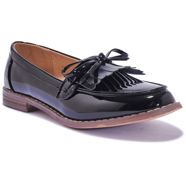 ESME5 Black Patent Loafer Shoes