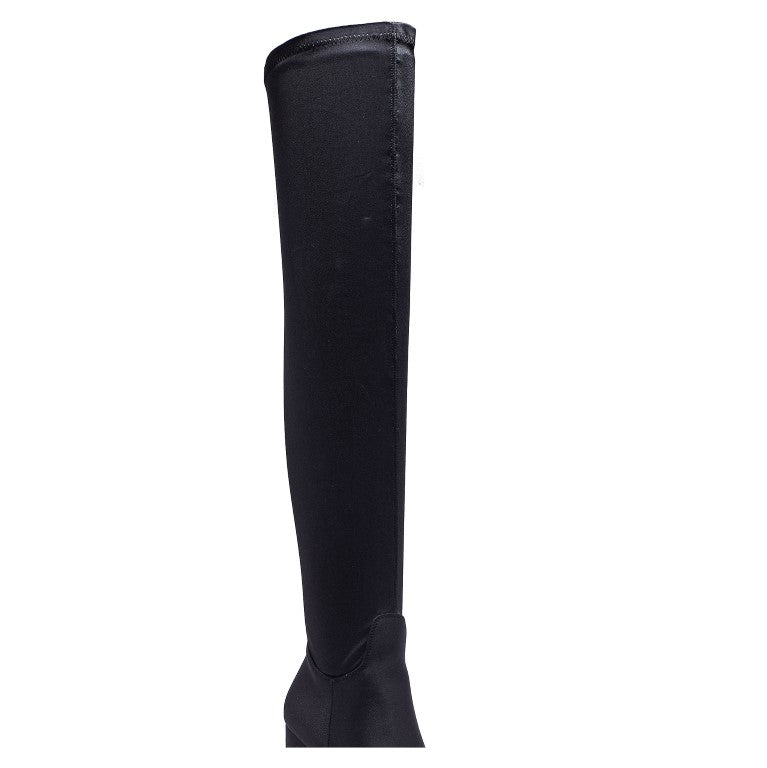 WFNOAH10 WIDE FIT FLARE BLOCK HEEL OVER THE KNEE BOOT