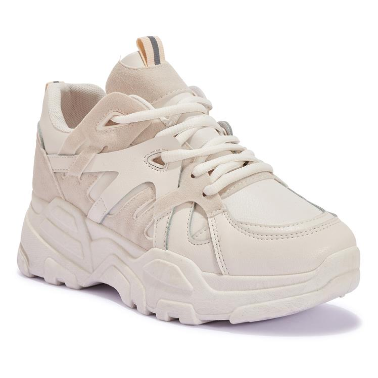 RIZ1 PANEL LACE UP CHUNKY TRAINER