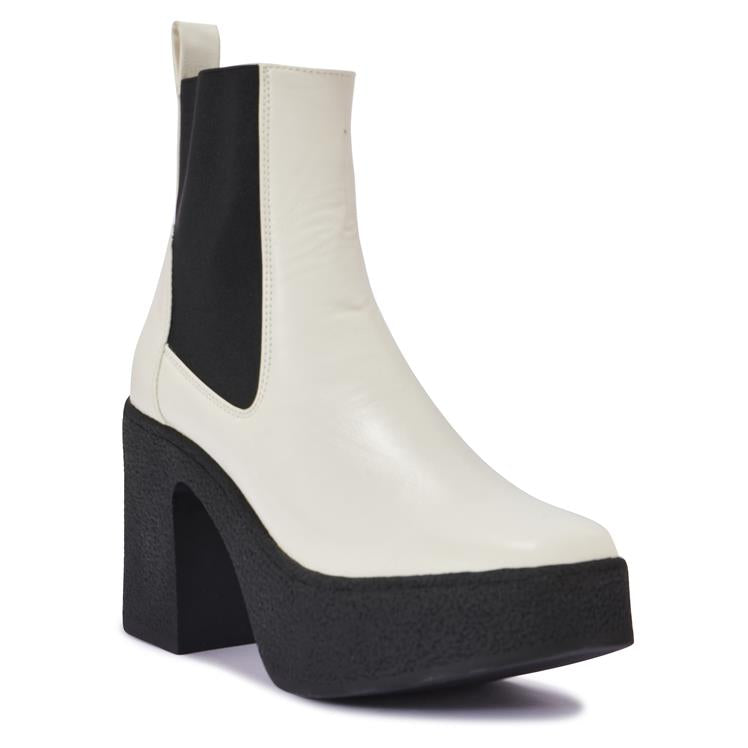 SUPERB3 CHUNKY PLATFROM HEEL CHELSEA ANKLE BOOT