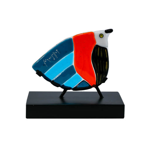 fernando llort artisinal glass art fused bird ave