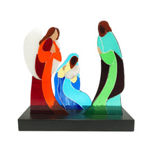 Upload image to gallery viewer, Nativity, fused glass decorative handmade figurine