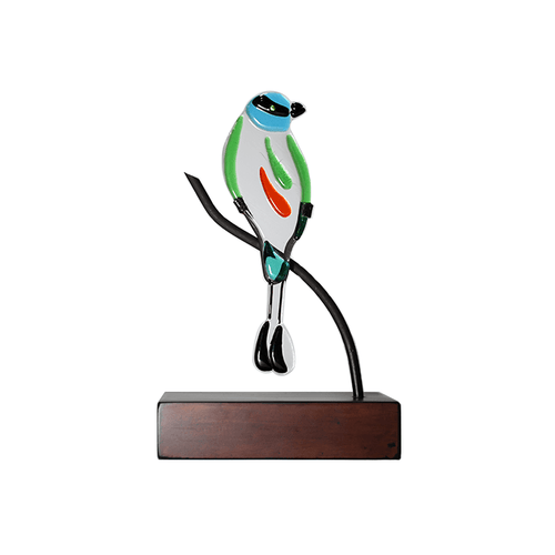 Abstract Torogoz: Handmade decorative figure of national bird