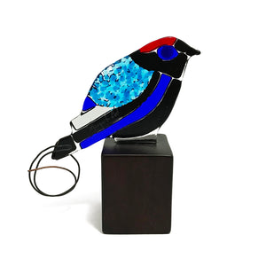 Long-tail Manakin, handmade bird figurine