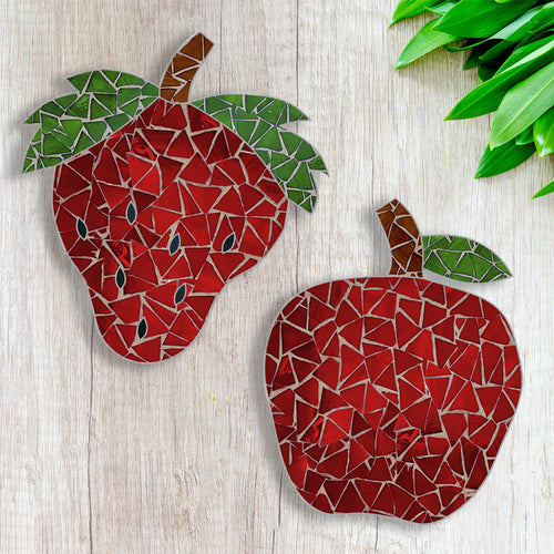 DIY Pot Coaster Mosaic Kit - Apple / Strawberry Design