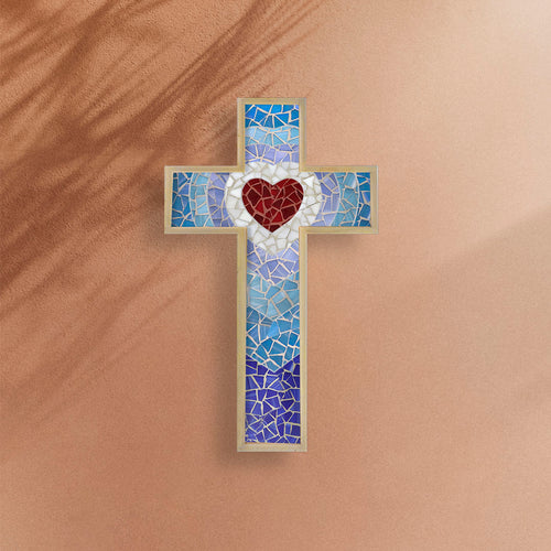 DIY Mosaic Kit - Cross Shaped, Heart