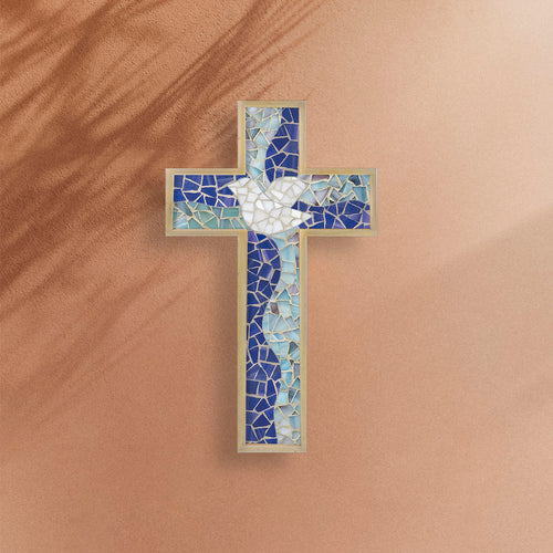 DIY Mosaic Kit - Cross Shape, Dove